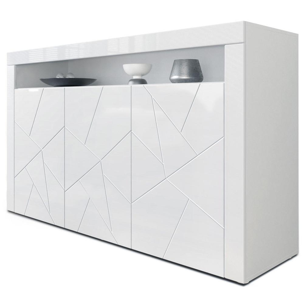 Valencia Sideboard Weiß 3D Fronten