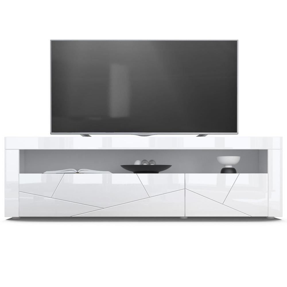 Valencia Lowboard Weiß 3D Fronten