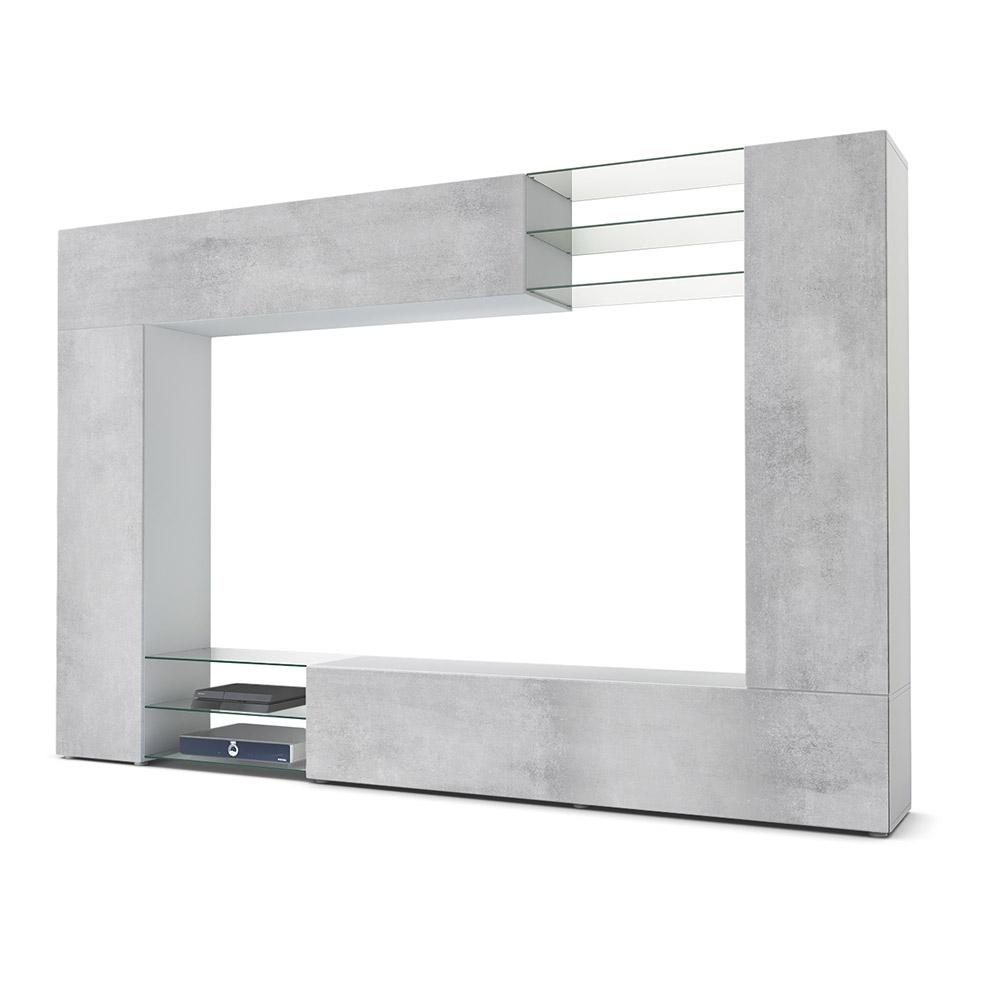 Bestseller Wohnwand Weiß Beton Mirage